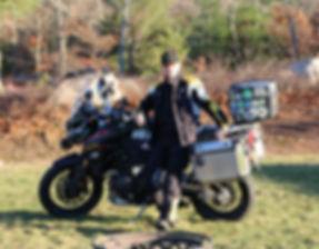 I. Cem Onur on his Triumph Tiger Explorer XC, a.k.a. BBX