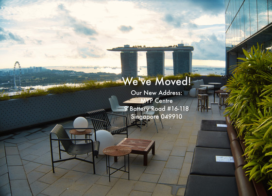 Announcement : We've moved our Singapore office to 9 Battery Road #16-118, Singapore 049910