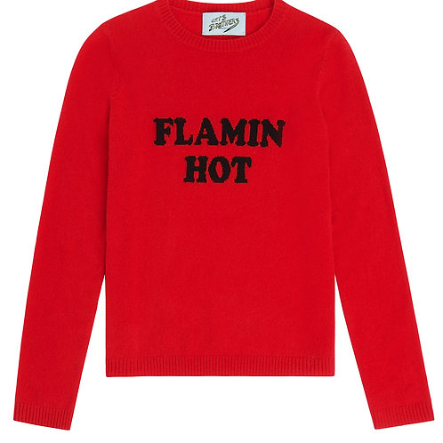Flamin' Hot Cashmere Sweater