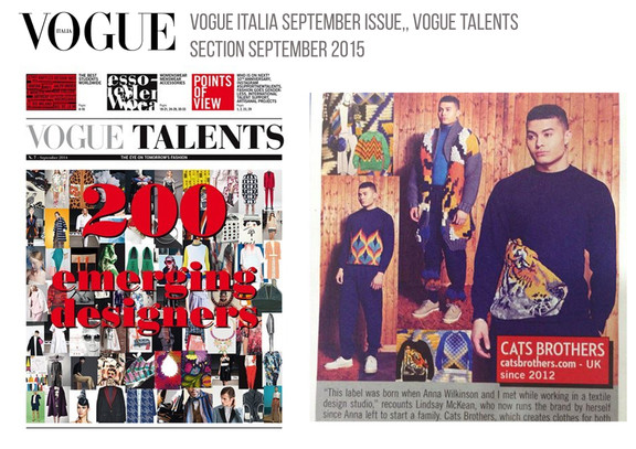 Cats Brothers Named Designer to Watch In Vogue Italias September issue Vogue Talents Section