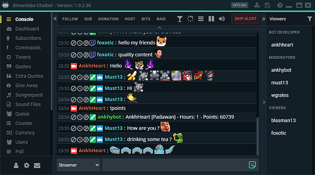 Setting up Streamlabs Chatbot