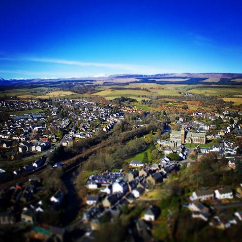 Dunblane Aerial Drone Property Photographer Crawford Digital Media Stirling Scotland