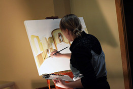 wedding painting - in action
