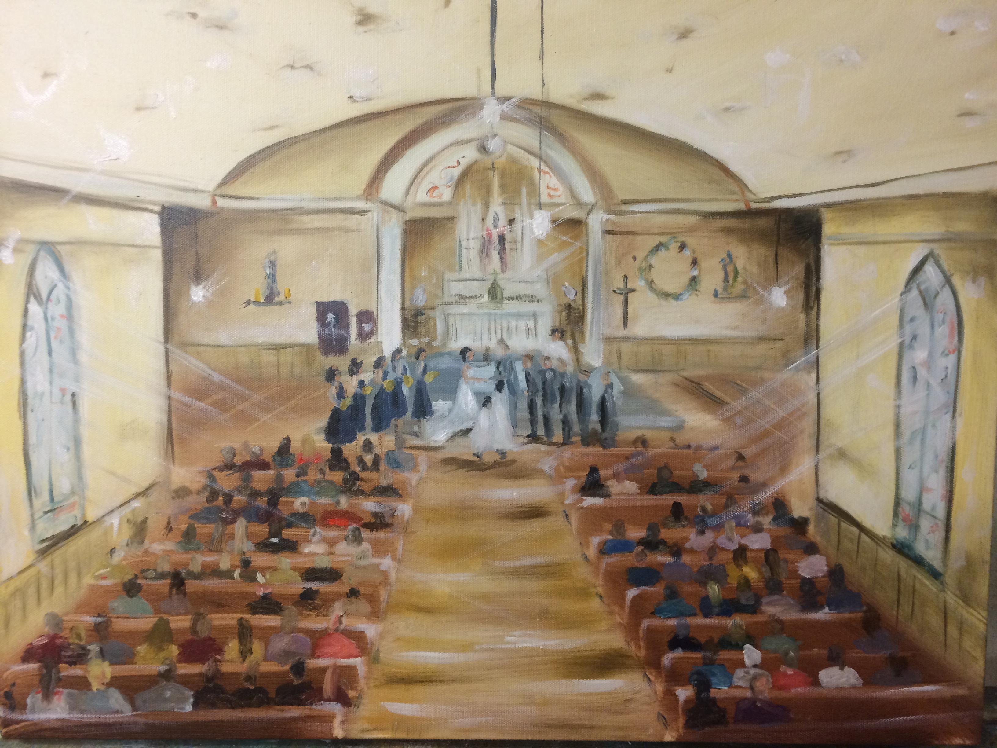 Live Painting - Church Wedding