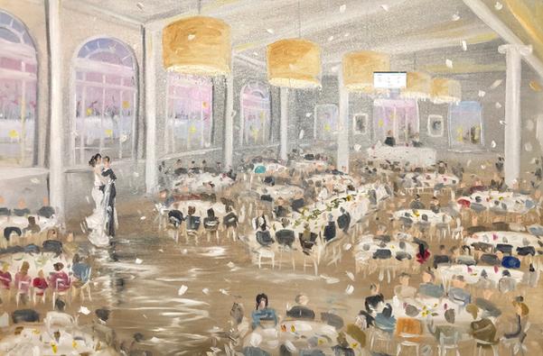 Calhoun Beach Club - Live Painting by Le