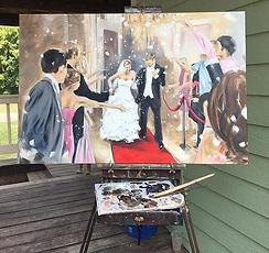 Leanne Larson, Portrait painter, Alexandia MN, Artist, oil painter, professional artist, painting from a photo, commissioned art, local artist, cane toad studios, paint my wedding photo, paint my wedding da