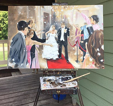 Leanne Larson, Portrait painter, Alexandia MN, Artist, oil painter, professional artist, painting from a photo, commissioned art, local artist, cane toad studios, paint my wedding photo, paint my wedding da