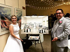 Done! 8 hours in an Art museum, wedding painter north dakota, live event artist, fargo, minneapols, wisconson, leanne larson, wedding painting, wedding artist midwest, best wedding paiter, live artist, wedding trends 2019, wedding ceremony ideas, reception ideas, first dance ideas, painter at weddings, mn bride, the knot, wedding wire, outdoor wedding idea