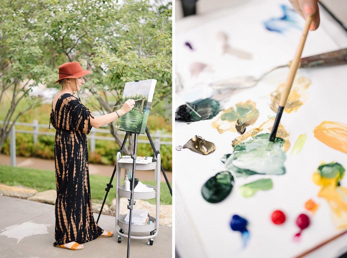 Leanne Larson - Live Painting - 📷Shane