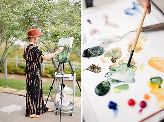 Leanne Larson - Live Painting - 📷 Shane Long, paint my wedding day, Live wedding painting, live painting, event painting, wedding painter, wedding artist, live artist, even painter