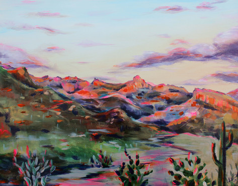 Tucson Sunset painting Follow link for prints