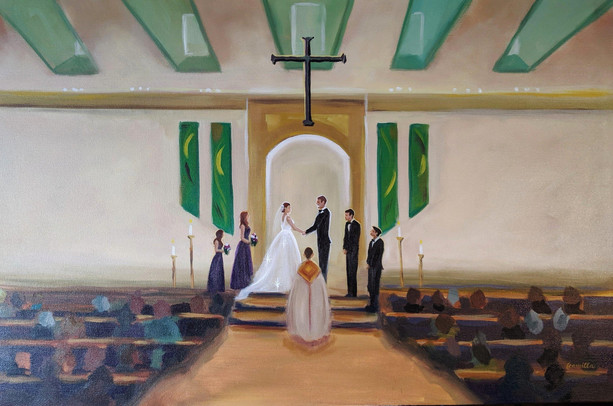 Live Painting by Cam  Paint my Wedding Day