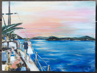 A US VI Destination Wedding - Live Painting