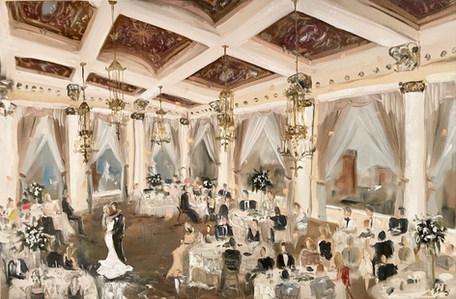 The Pfister Hotel - Milwaukee WI - Haley & Craig -Live Painting