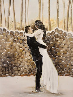 Leanne Larson, Live Wedding Painter, Paint my Wedding Day, comission, paint my wedding, wedding painter, live wedding painting, minnesota artist, just married, luxury wedding painter, wedding artist, same day painting, wedding art, wedding gift ideas