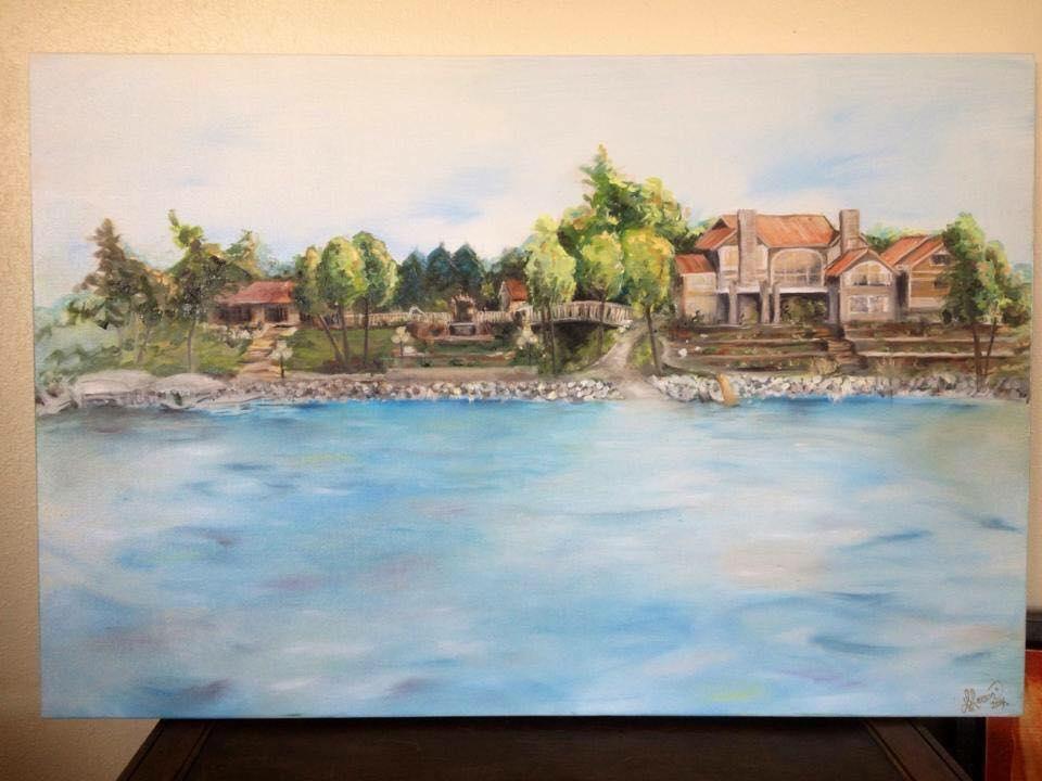 Painting of Lake Home  - Glenwood MN