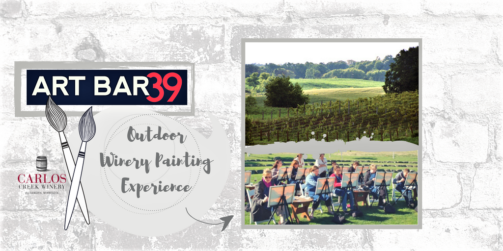 Winery outdoor painting experince cover photo
