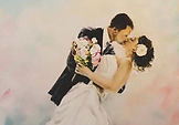 Portrait Painting from a photograph, wedding couple, great wedding gift for anniversary, minnesota portrait artist, commission work, photo to paiinting, Leanne Larson Artist, Alexandria MN artist. quality artist in MN