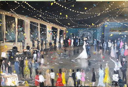 First Dance Live Painting