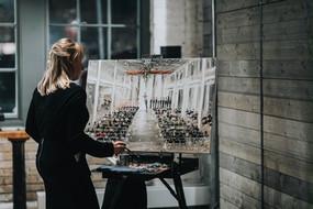 Leanne Larson Painting Live at The Machine Shop