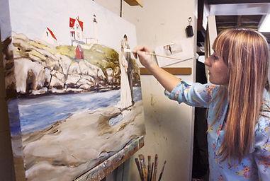 Leanne Larson - Echo Press - Wedding Painter - Portrait Painting, The Artist who paints at weddings,