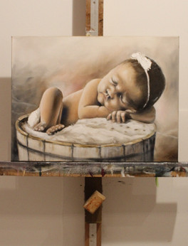 Angie  - Original Oil Painting from a ph