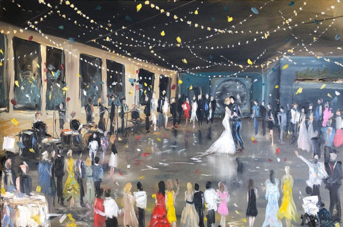First Dance - Circle of Love  -stronger impasto style (thicker oil paint)