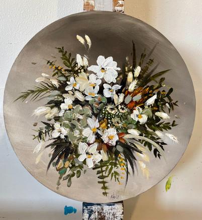 Desert Mix  - Wedding Bouquet - Painting from a photo