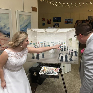 Minot ND- art gallery wedding