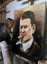 Leanne Larson - Artist, Alexandra MN, Portrait Painter, professional artist, minesota, oil painter, Cane toad Studios, Garfield MN, Kevin Covlin