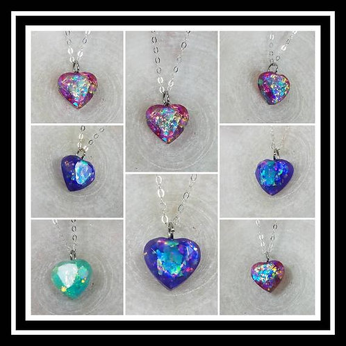 Memorial Ash Faceted Heart Pendant Pendant Necklace
