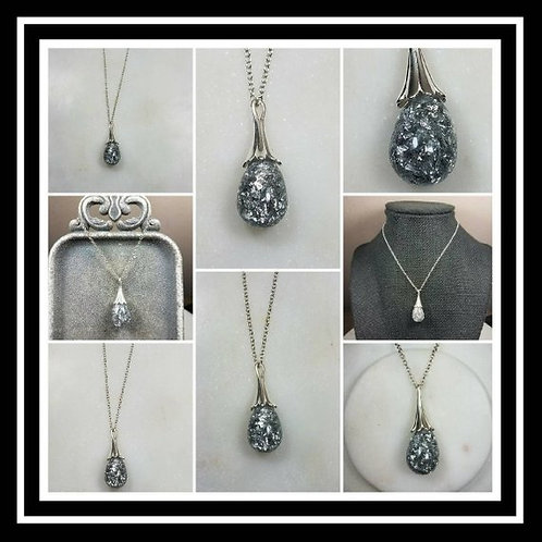 Memorial Ash Sterling Silver Drop Necklace
