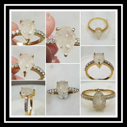 Memorial Ash Solitare 18kt Gold Diamond Cremation Ring /Memorial Ash Cremation R