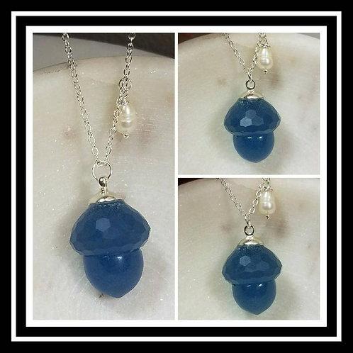 Acorn Memorial Ash Pendant Necklace/ Memorial Ash Jewelry/Pet Memorial Jewelry/