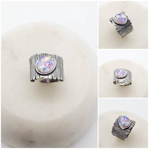 Sterling Silver Memorial Ash Ring/Memorial Ash Jewelry/Pet Memorial Jewelry