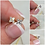Thumbnail: Studiodragonfly19 Cremation Sterling Silver CZ Earring