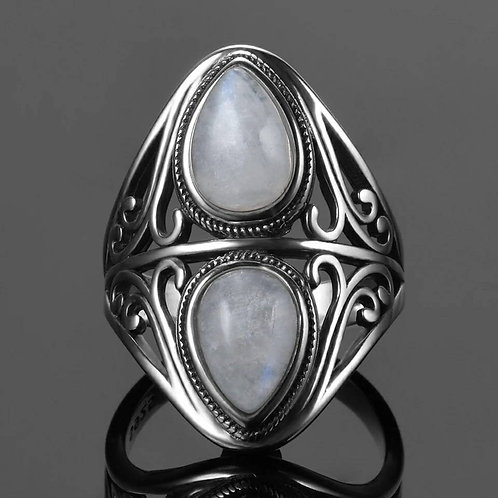 Cremation Moonstone Ring