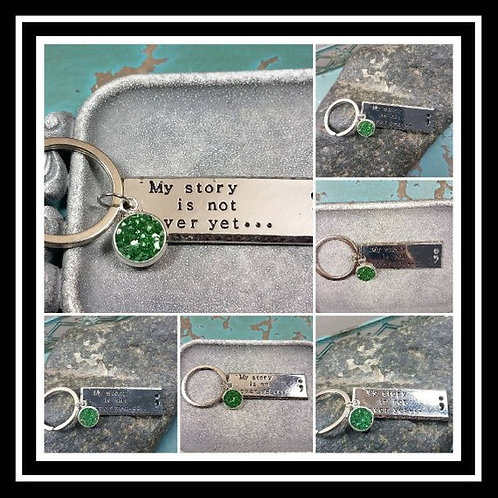 My Story Is Not Over Yet Memorial Ash Key Chain Charm