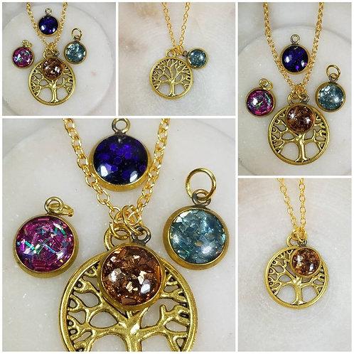 Memorial Ash Tree Pendant Necklace/Cremation Pendant/Pet Memorial Jewelry/Cremat