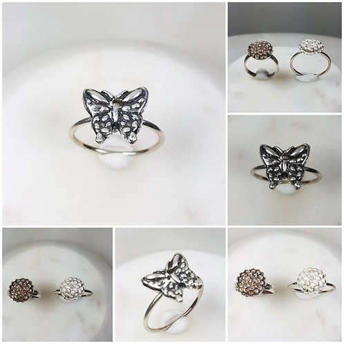 Flower Memorial Cremation Ash Ring/Pure Silver Cremation Ring