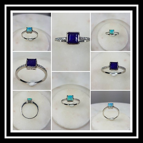 Memorial Ash Square Cremation Stone 10k Diamond/Cremation Jewelry/More than 80 C