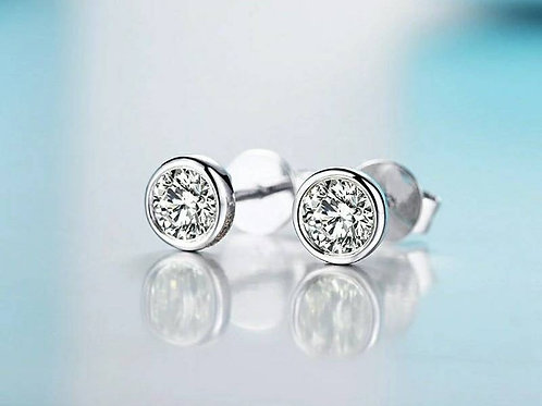 Studiodragonfly19 Cremation Gold or Sterling Silver Moissanite Earrings