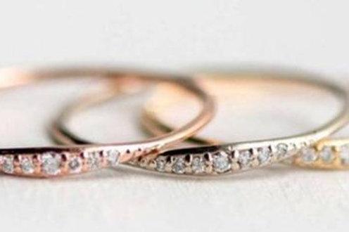 Studiodragonfly19  Minimalist 10k Rose Gold Round Bezel Ring