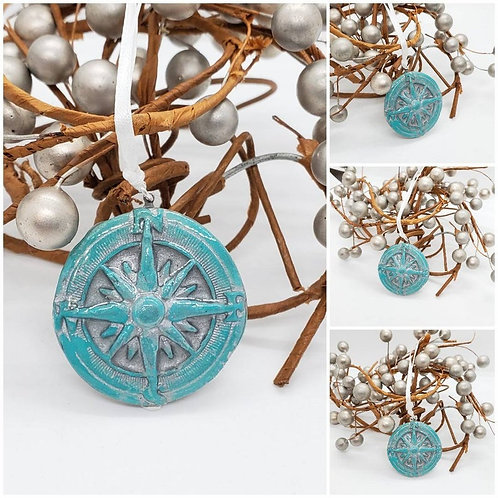 Memorial Cremation Ash Compass/Memorial Compass/Cremation Ornament