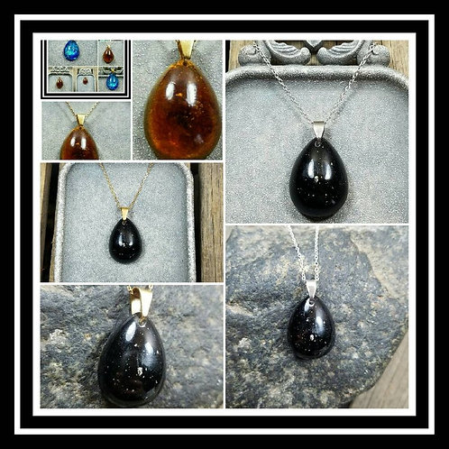 Pear Memorial Ash Pendant Necklace/ Pet Memorial/ Cremation Jewelry/Sentimental