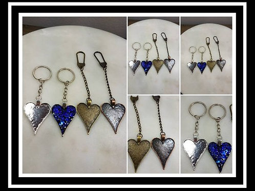 Memorial Ash Heart Key Chain