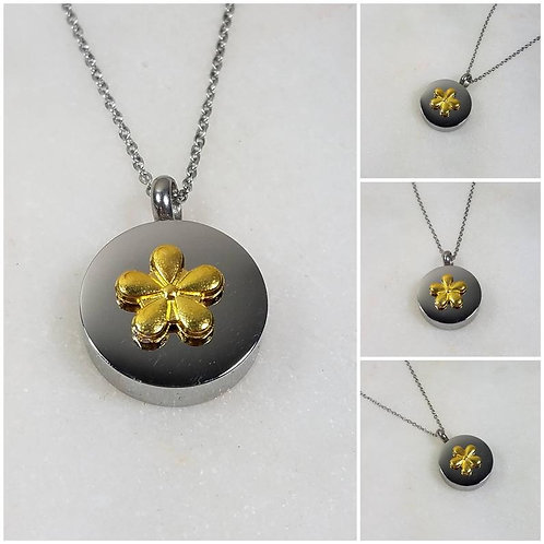 Memorial Ash Stainless Steel Cremation Flower Urn Necklace/Cremation Pendant/Cre