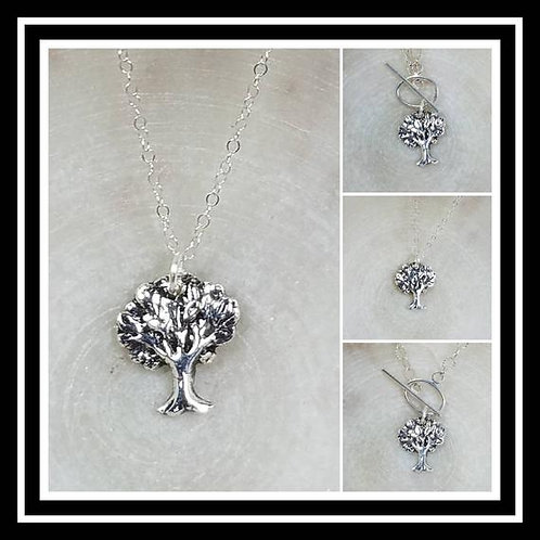 Memorial Ash Pure Silver Tree of Life Pendant Necklace