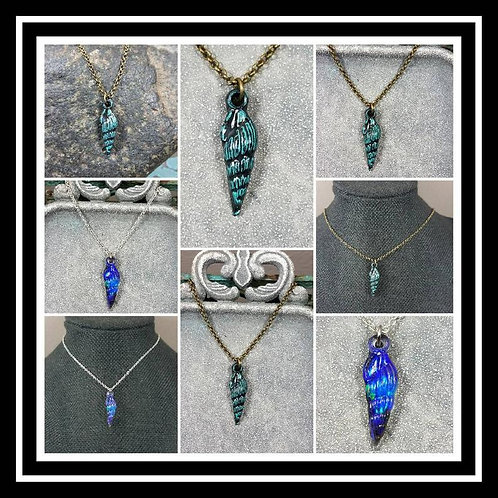 Memorial Ash Shell Pendant Necklace/Cremation Pendant/ Pet Memorial Jewelry/ Mem