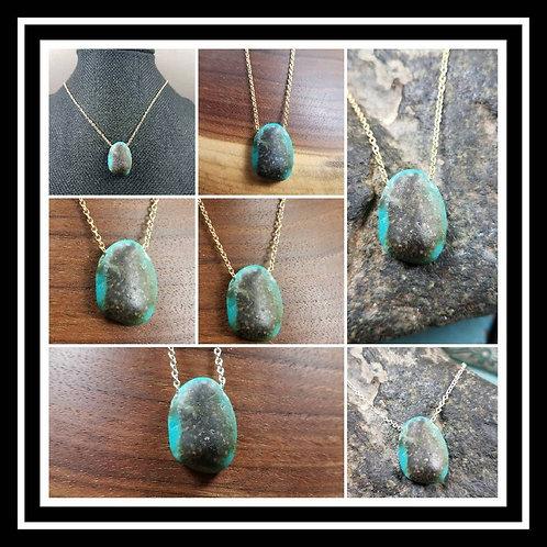 Memorial Ash Stone Pendant Necklace/Memorial Ash Resin Stone/Resin Ash Stones/Me